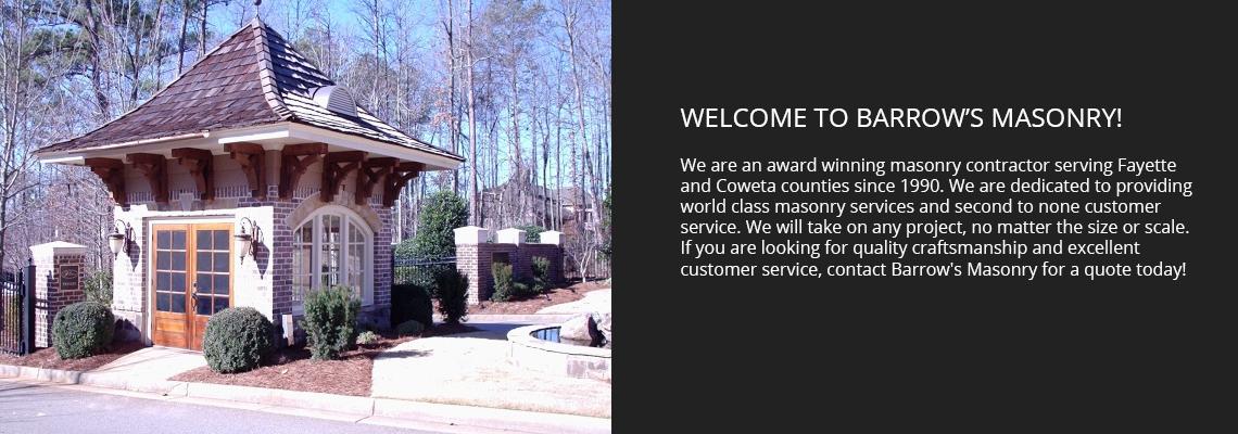 Welcome to Barrow's Masonry!